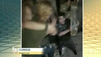 Corregedoria da Polícia Militar e MP de São Paulo apuram excesso em ação policial - Caso aconteceu em outubro, mas só veio à tona depois que as imagens começaram a circular nas redes sociais. Um PM usou um skate para bater no tatuador Ataniel Sousa, de 24 anos, e na mãe dele, Eliana Barbosa, de 45.