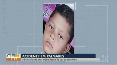 Menino de 8 anos morre atropelado após cair de caminhão em movimento em Palmares - Vítima pegou um 'bigu' no veículo que carregava cana-de-açúcar, diz Polícia Militar.