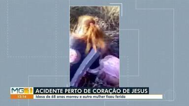 Idosa morre e mulher fica ferida após atropelamento na LMG 251 próximo a Coração de Jesus - De acordo com a Polícia, a idosa de 68 anos morreu após ser atropelada, enquanto caminhava pela via. Uma mulher de 42 anos que estava com a vítima, ficou ferida.