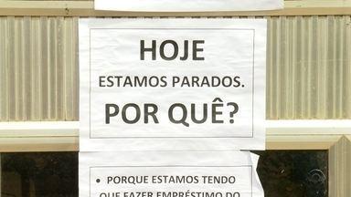 Em Santa Rosa, servidores do estado ligados à agricultura participam da greve - Eles são contra as propostas do Governo Estadual.