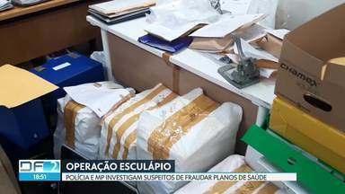 Polícia e MP fazem operação contra grupo que fraudava planos de saúde - Mandados de busca e apreensão foram cumpridos na casa dos suspeitos. Documentos e computadores foram apreendidos.