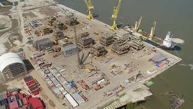 Cenário da indústria naval na região ainda é de dúvidas - Veja o comentário de Mauricio Gasparetto.