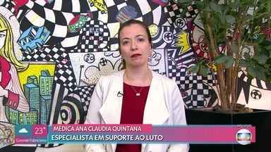 Especialista explica o luto em caso de mortes repentinas - A médica Ana Claudia Quintana fala da comoção dos fãs com a morte do apresentador Gugu Liberato