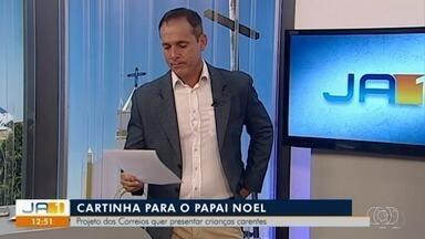 Apresentador da TV Anhanguera se emociona ao ler cartinha de criança para Papai Noel - Alaor Rodovalho foi até a casa da família.