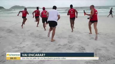 'Vai Encarar?': Gustavo Garcia em um dia como bombeiro guarda-vidas - Assista a seguir.