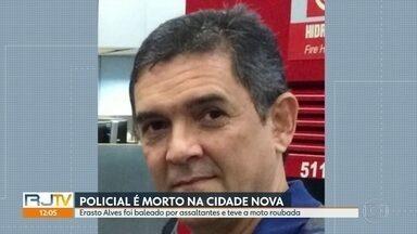 Policial civil aposentado é morto a tiros na Cidade Nova - Erasto Alvez, 57 anos, passava pela avenida Presidente Vargas quando foi abordado por assaltantes. Segundo a polícia, os bandidos atiraram e roubaram a moto dele.