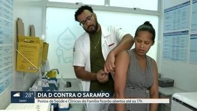 Dia D contra o sarampo: Postos de Saúde e Clínicas da Família ficam abertos até 17h - Número no estado preocupa. Já foram notificados 157 casos no RJ. Só em Duque de Caxias, foram 76 notificações.