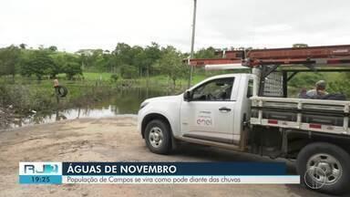 Chuva forte causa transtornos em Campos - Temporal de novembro causou prejuízos.