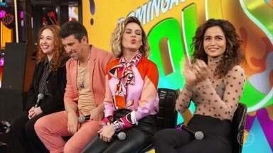 Débora Lamm, Milhem Cortaz Nanda Costa e Letícia Lima participam do Ding Dong - Neste domingo o elenco de 'Amor de Mãe' participa do Ding Dong