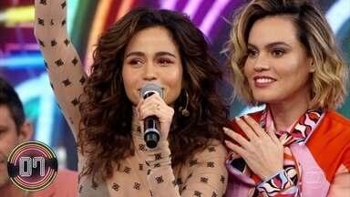 Nanda Costa e Letícia Lima acertam a primeira rodada - A dupla acerta a música da cantora Pocah
