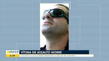 Proprietário de joalheria baleado em tentativa de assalto morre em hospital de Manaus - Vítima foi atingida no rosto, no último dia 22 de novembro. Um funcionário do local também foi ferido no dia do crime.