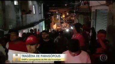 Corregedoria da PM assume a investigação da ação na operação que deixou 9 mortes em SP - Uma mulher e oito homens morreram pisoteados em um baile funk no fim de semana, em São Paulo.