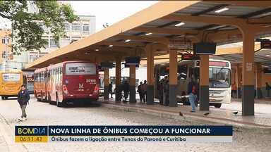 Linha de ônibus entre Tunas e Curitiba começa a funcionar - Um dos pontos é o terminal do Guadalupe.