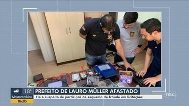 Prefeito de Lauro Müller é afastado suspeito de participar de esquema de fraude - Prefeito de Lauro Müller é afastado suspeito de participar de esquema de fraude