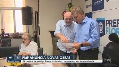 Prefeitura anuncia novas obras para ruas e escolas de Florianópolis - Prefeitura anuncia novas obras para ruas e escolas de Florianópolis