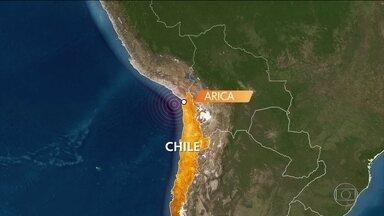 Terremoto de magnitude 6 atinge costa do Chile - Ainda não há informações sobre feridos. Segundo o serviço geológico chileno, não há risco de formação de tsunâmi.