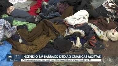 Pais de crianças mortas em incêndio de barraco são presos em flagrante - Eles vão responder do fogo que atingiu residência improvisada, erguida ao lado da estação do metrô, no Paraíso.