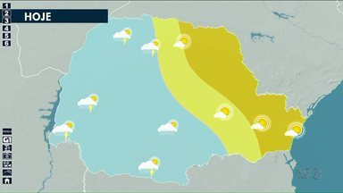 Previsão de pancadas de chuva para região noroeste nesta quarta-feira(4) - O tempo volta a ficar seco na sexta-feira.