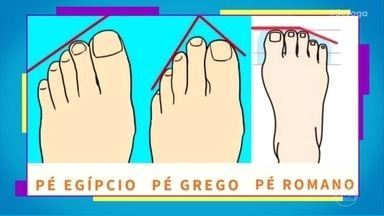 Descubra suas características através do formato do pé - No dia do podólogo, o 'Se Joga' mostra os tipos de pés e as personalidades de seus donos