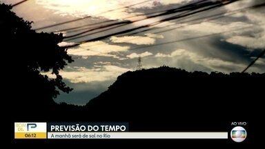 Veja como fica o tempo no Rio de Janeiro nesta quinta (5) - A manhã deve ser de sol, mas a chegada de uma frente fria traz previsão de chuva. Confira a previsão do tempo para todo o estado.