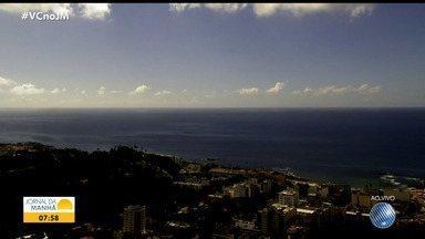 Confira a previsão do tempo para Salvador e outras cidades da Bahia nesta quinta-feira - Veja também as fotos do Amanhecer e a tábua de marés.