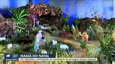 Criatividade na montagem de presépios chama a atenção em Uberaba - Na Igreja São Geraldo Magela, no Bairro Alfredo Freire, por exemplo, comunidade montou um presépio com 30 m².