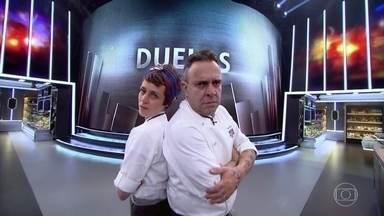 Carol Albuquerque e André Barros são sorteados para duelo - Jiló deve ser o ingrediente principal do prato