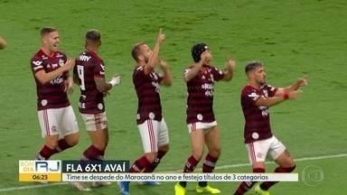 Fla dá show e goleia, Vasco só empata - Rubro-negro venceu o Avaí por 5 a 1 no Maracanã, enquanto o cruzmaltino ficou no 1 a 1 contra o Bahia, em Salvador.