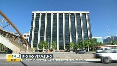 Déficit da Prefeitura pode ser o maior desde que Crivella assumiu - Saldo das contas da prefeitura mostra números negativos.