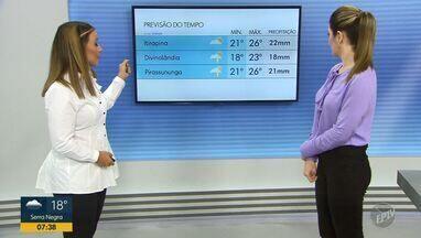Confira a previsão do tempo para as regiões central e de Ribeirão Preto nesta sexta (6) - Chuva persiste durante o dia nas cidades.