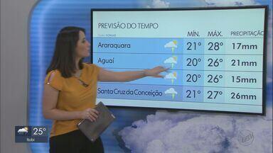 Veja como fica o tempo neste fim de semana na região - Previsão de temperaturas mais baixas e possibilidade de chuva.