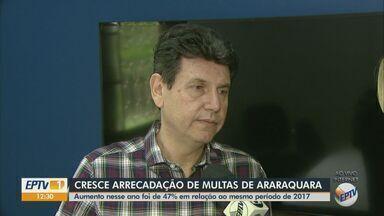Arrecadação de multas de trânsito cresce 47% em um ano em Araraquara - Até outubro prefeitura recebeu mais de 10 milhões em multas.