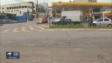 Moradores reclamam de riscos na Avenida Perimetral em Pouso Alegre, MG - Moradores reclamam de riscos na Avenida Perimetral em Pouso Alegre, MG