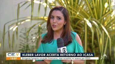 Kleber Lavor acerta retorno ao time do Icasa - Saiba mais em g1.com.br/ce