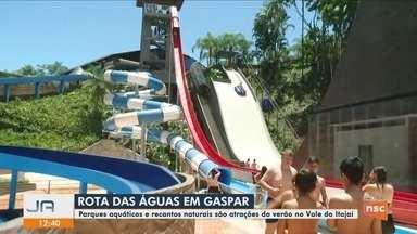 Parques aquáticos e recantos naturais atraem público em Gaspar - Parques aquáticos e recantos naturais atraem público em Gaspar