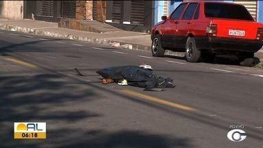 Motociclista morre em acidente no Santo Eduardo - Clebson Lins, 29 anos, morreu no local antes de receber atendimento médico.
