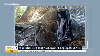 Jornalista Dias Mendes recebe homenagens de colegas e amigos após morrer em acidente em GO - Ele trabalhava na Defensoria Pública e estava em um carro do órgão com mais três pessoas. Batida também causou a morte de uma assessoria jurídica e deixou duas defensoras feridas.