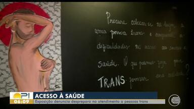 Exposição retrata dificuldade de pessoas trans no acesso à saúde - Exposição retrata dificuldade de pessoas trans no acesso à saúde