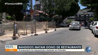 Dono de restaurante é sequestrado e morto por bandidos na noite de domingo - O empresário morreu baleado