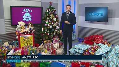 Campanha de Natal da RPC arrecada brinquedos até esta terça-feira (10) - Doações podem ser entregues na sede da RPC.