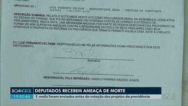 Polícia investiga supostas ameças de morte contra deputados estaduais do Paraná - E-mails foram enviados antes da votação dos projetos da Previdência.