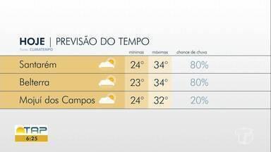 Confira a previsão do tempo para Santarém e região - Saiba qual temperatura esperada para esta terça-feira (10).