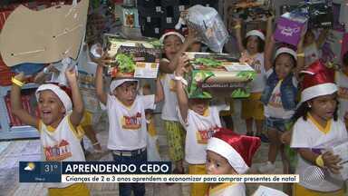 Crianças de Juazeiro economizam para comprar presentes de Natal - Os pequenos estão aprendendo, desde cedo, a importância da educação financeira.