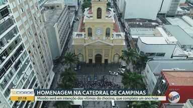 Ataque na Catedral completa 1 ano e Arquidiocese faz missa em memória das vítimas - Cerimônia está marcada para as 12h15 desta quarta-feira (11). Cinco pessoas morreram e três ficaram feridas no caso.