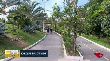 Parque da Cidade na Serra, ES, recebe moradores - Lugar para exercício físico e pra curtir a paisagem.
