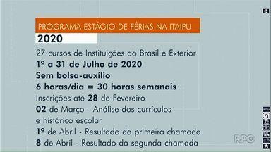 Itaipu abre inscrições para o programa de estágio de férias para 2020 - As inscrições seguem até o dia 28 de fevereiro.