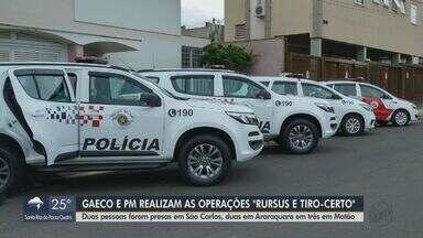 Operação do Gaeco e Polícia Militar cumpre mandados de prisão em cidades da região - Ações simultâneas ocorrem em sete municípios e têm como alvos integrantes de uma facção criminosa.