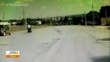 Vídeo mostra motorista jogando picape na direção de motociclista na TO-050 - Vídeo mostra motorista jogando picape na direção de motociclista na TO-050