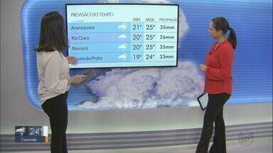 Veja como fica o tempo nesta quarta-feira na região - Há previsão de chuva.