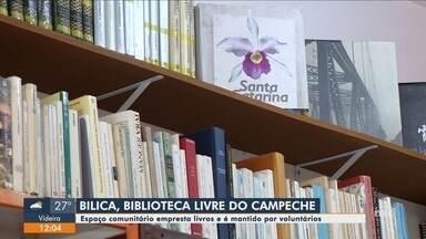 Espaço comunitário empresta livros e é mantido por voluntários em Florianópolis - Espaço comunitário empresta livros e é mantido por voluntários em Florianópolis